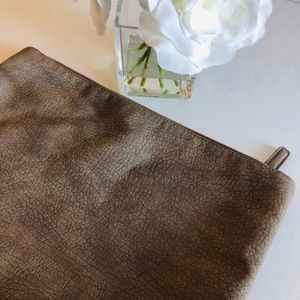 Free People taupe large clutch bag
